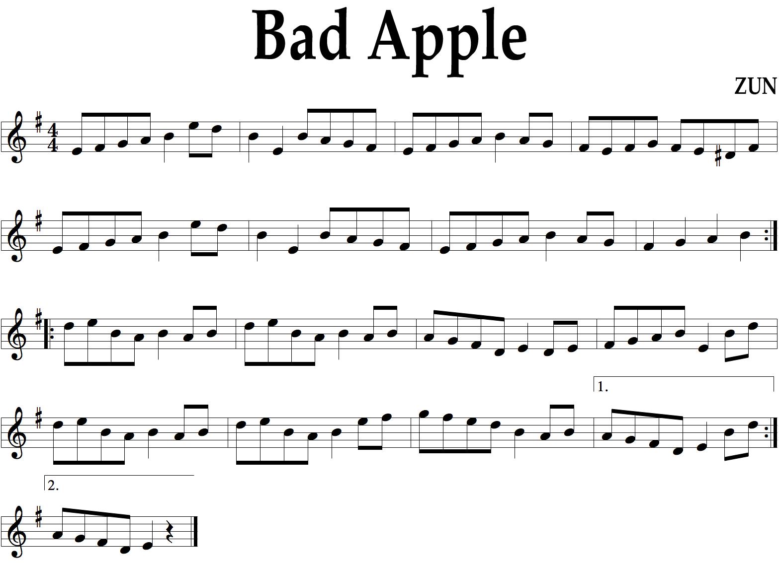 可爱的苹果歌谱