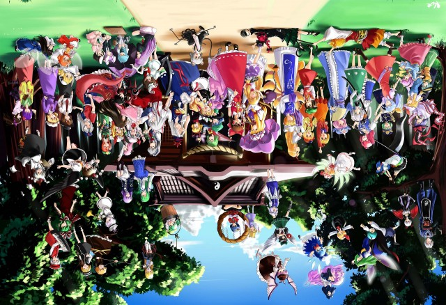 Touhou, inverted